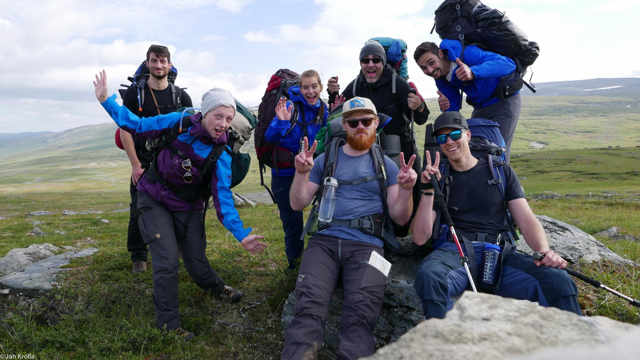 Norwegen Trekking Gruppenbild