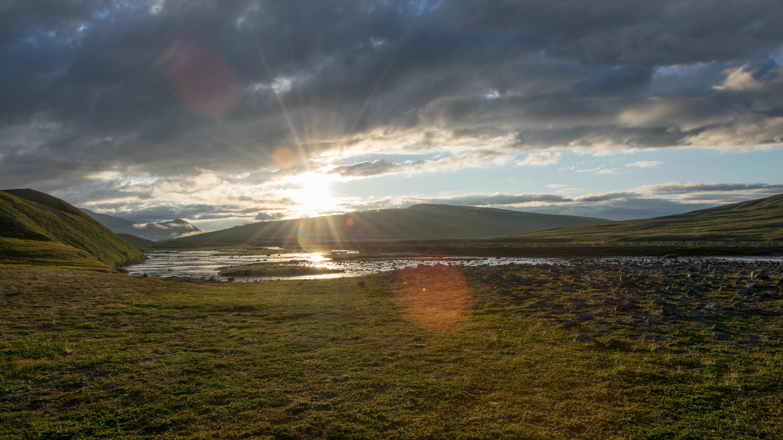 Norwegen Trekking Sonnenuntergang