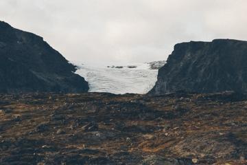 Blick auf den Blåbrean (Gletscher) im Nationalpark Jotunheimen