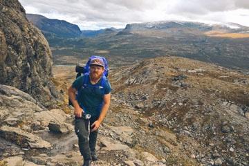 Aufstieg von Gjendesheim zum Besseggengrat im Nationalpark Jotunheimen