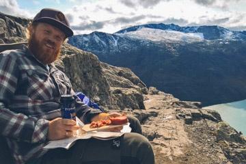 Pause direkt am Besseggengrat im Nationalpark Jotunheimen